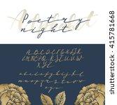 elegant calligraphy abc for... | Shutterstock .eps vector #415781668