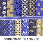 set of abstract vector paper... | Shutterstock .eps vector #415789270