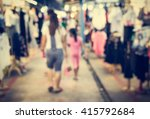 blurred people walking in the... | Shutterstock . vector #415792684