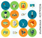 school and education icon set.... | Shutterstock . vector #415793236