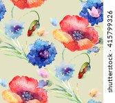floral seamless pattern ... | Shutterstock . vector #415799326