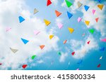 buddhist prayer flags... | Shutterstock . vector #415800334