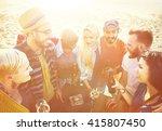 friends friendship leisure... | Shutterstock . vector #415807450