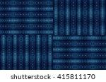 blue geometric textured pattern ...   Shutterstock . vector #415811170