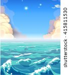 seascape with clouds. vector... | Shutterstock .eps vector #415811530