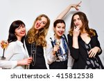 crazy party image of four... | Shutterstock . vector #415812538