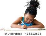 close up portrait of cute...   Shutterstock . vector #415813636