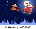Vector Background With  Santa...