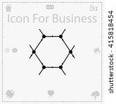 molecule icon. molecule vector. ...