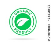 organic product icon design... | Shutterstock .eps vector #415818538