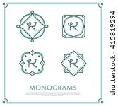 line letter k monogram. vector... | Shutterstock .eps vector #415819294