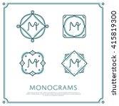 line letter m monogram. vector... | Shutterstock .eps vector #415819300