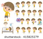 a set of boy with injury and... | Shutterstock .eps vector #415825279