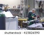 industrial operator setting ... | Shutterstock . vector #415826590