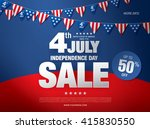 independence day sale banner... | Shutterstock .eps vector #415830550
