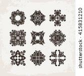 set of ornate mandala symbols.... | Shutterstock . vector #415831210