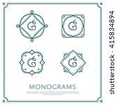 line letter g monogram. vector... | Shutterstock .eps vector #415834894