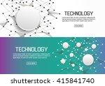flat designed banners for... | Shutterstock .eps vector #415841740