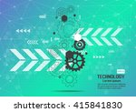 abstract technology background | Shutterstock .eps vector #415841830