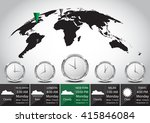 world map and time zone vector... | Shutterstock .eps vector #415846084