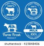 set of vector farm logos... | Shutterstock .eps vector #415848406