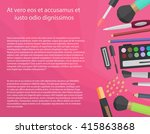 colorful cosmetics illustration ... | Shutterstock .eps vector #415863868