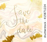 marble textured wedding... | Shutterstock .eps vector #415871224