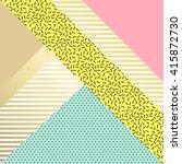 trendy geometric elements...   Shutterstock .eps vector #415872730