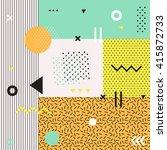 trendy geometric elements... | Shutterstock .eps vector #415872733