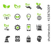 ecology icon | Shutterstock .eps vector #415876309