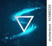 abstract line light effect... | Shutterstock .eps vector #415880233
