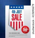 independence day sale banner... | Shutterstock .eps vector #415890679