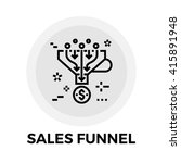 sales funnel icon vector. flat... | Shutterstock .eps vector #415891948