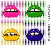 Pop Art Lips
