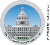 the united statues capitol... | Shutterstock .eps vector #415893730