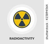radioactivity icon vector flat