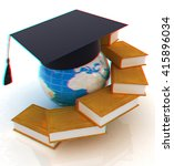 global education. 3d... | Shutterstock . vector #415896034