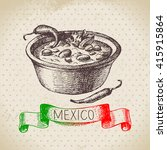 mexican traditional food... | Shutterstock .eps vector #415915864
