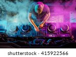 charismatic disc jockey at the...