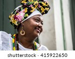 brazilian woman wearing... | Shutterstock . vector #415922650