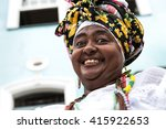 brazilian woman wearing... | Shutterstock . vector #415922653