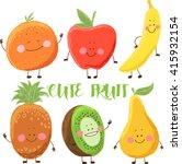 cute fruit | Shutterstock .eps vector #415932154