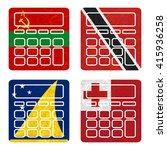 nation flag. calculator... | Shutterstock . vector #415936258