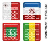 nation flag. calculator... | Shutterstock . vector #415938430