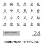 set of modern outline people... | Shutterstock .eps vector #415947658