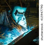 welder industrial automotive... | Shutterstock . vector #415947790