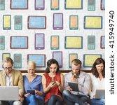 digital devices technology... | Shutterstock . vector #415949740