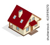 isometric 3d house icon.... | Shutterstock .eps vector #415959070