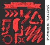 arrows set   Shutterstock .eps vector #415962409
