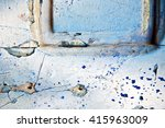 stripped paint in the blue wood ... | Shutterstock . vector #415963009